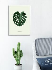 Turtle Back Leaf Wall Print Without Frame