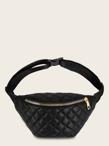 Zip Front Quilted Fanny Pack