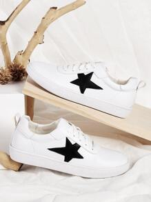 Star Decor Lace-up Front Sneakers