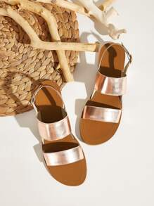 Double Strap Slingback Sandals