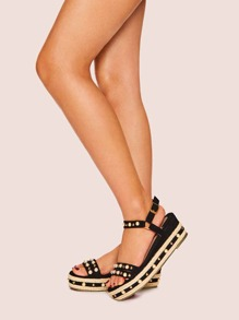 Pearl Detail Slingback Sandals