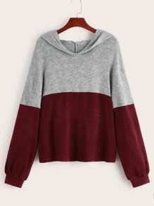 Two Tone Hooded Sweater