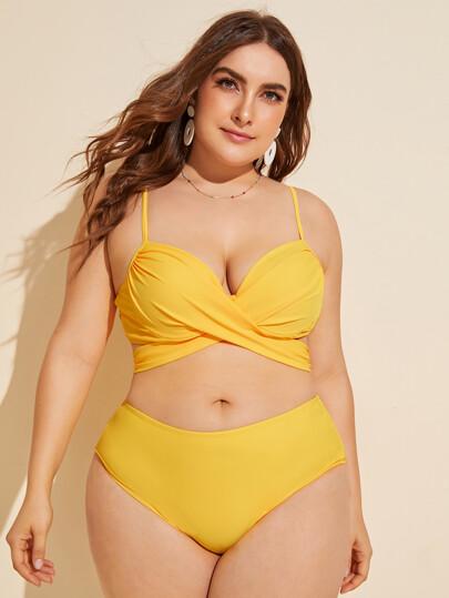 9ebc560a341 Plus Size Swimwear, Plus Size Bikinis | SHEIN IN