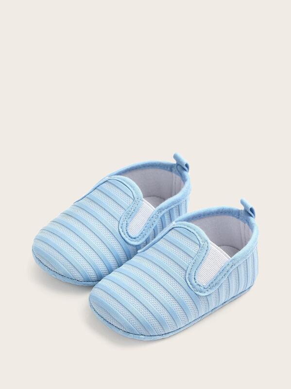 0f3202c520 Baby Boys Striped Slip On Flats