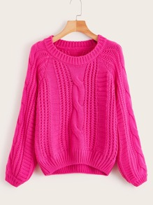 Cable Knit Solid Jumper