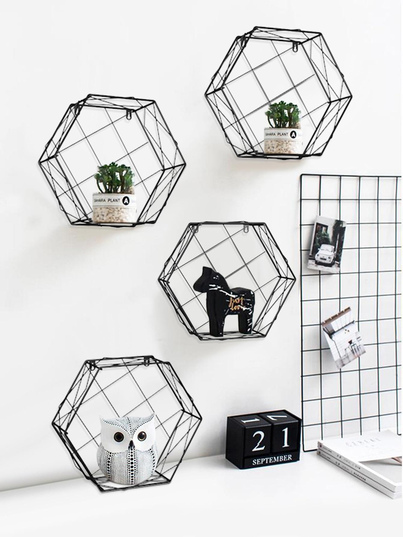 Hexagon Eisen Wandregal 1pc Aktuelle Trends Gunstig Kaufen