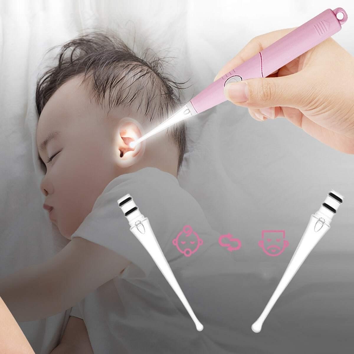 Outil pour se curer les oreilles à lumière