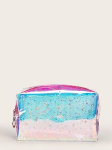 Star Pattern Iridescence Transparent Makeup Bag