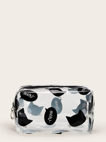 Cartoon Pattern Transparent Makeup Bag