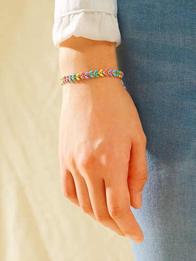 Colorful Chain Bracelet 1pc