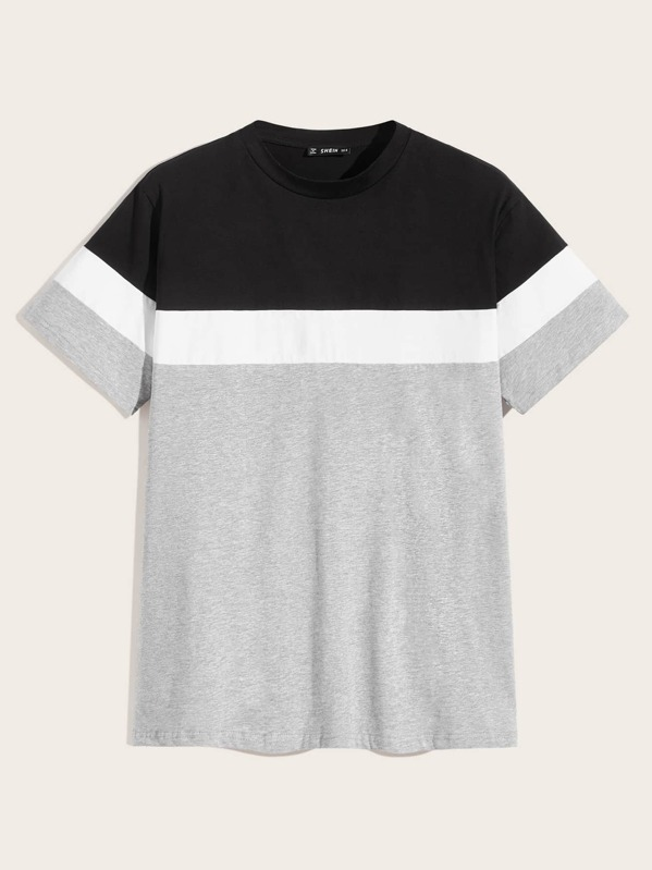 8b47f01535 Men Colour Block Short Sleeve Tee