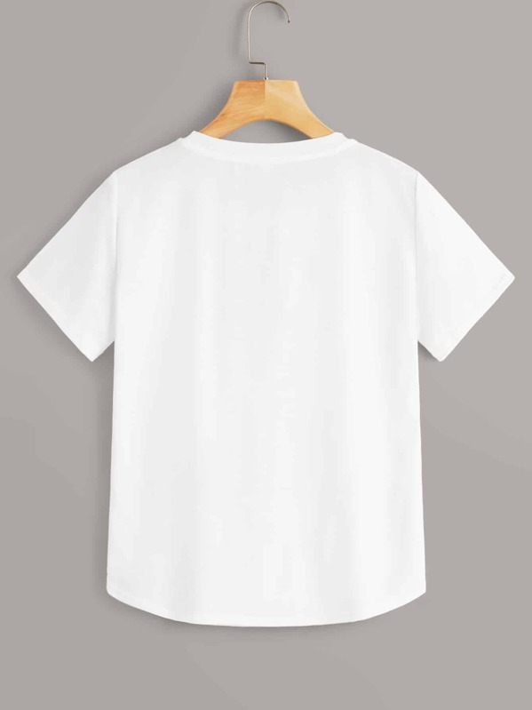 34ee6fc62b T-shirt avec imprimé | SHEIN
