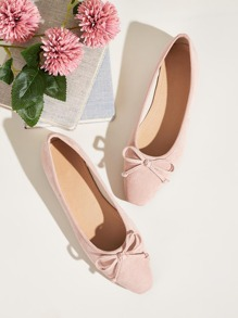 Bow Decor Ballet Flats