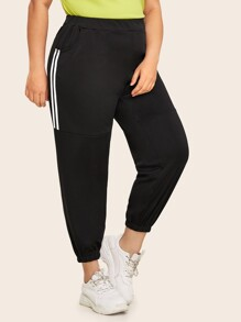 Plus Side Stripe Pocket Side Sweatpants