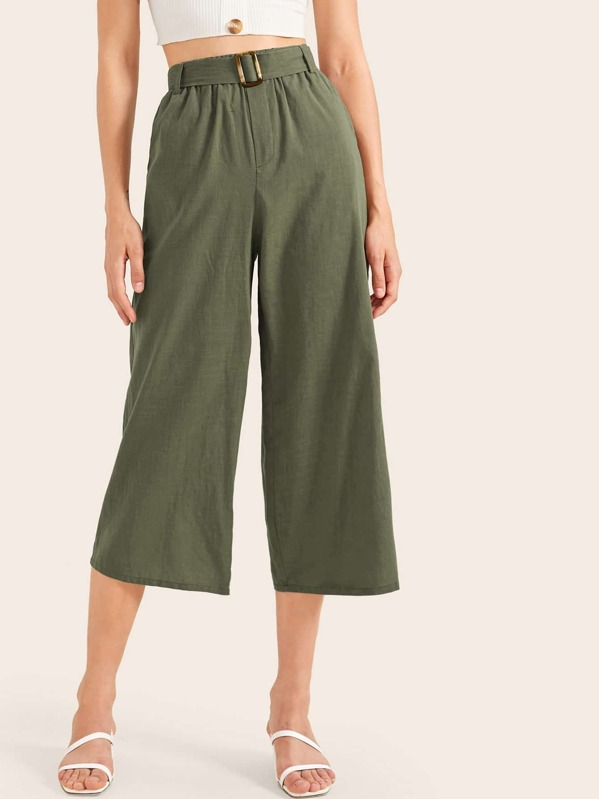 762bc6f914 Capris Palazzo Trousers With Belt