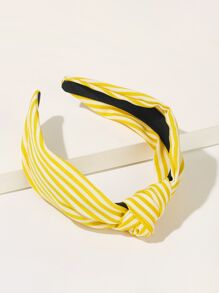 Striped Pattern Knot Decor Headband
