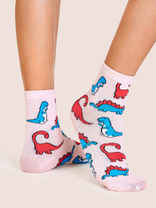 Dinosaur Pattern Socks 1pair