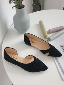 Point Toe Cut Out Detail Flats