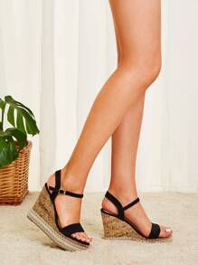Two Part Beaded Cork Wedges