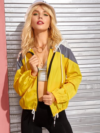 Clothing, Shoes & Accessories Chic casual Women's shiny hoodies short Spring desugn Mental coat jacket Stitch Coats, Jackets & Vests