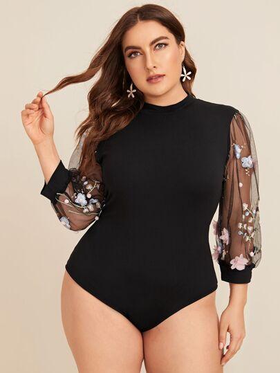 dbccdc1abae Plus Size Bodysuits | Plus Size Bodysuits Online | SHEIN