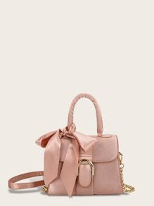 Twilly Scarf Satchel Chain Bag