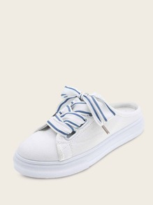 Lace-up Front Sneakers Mules