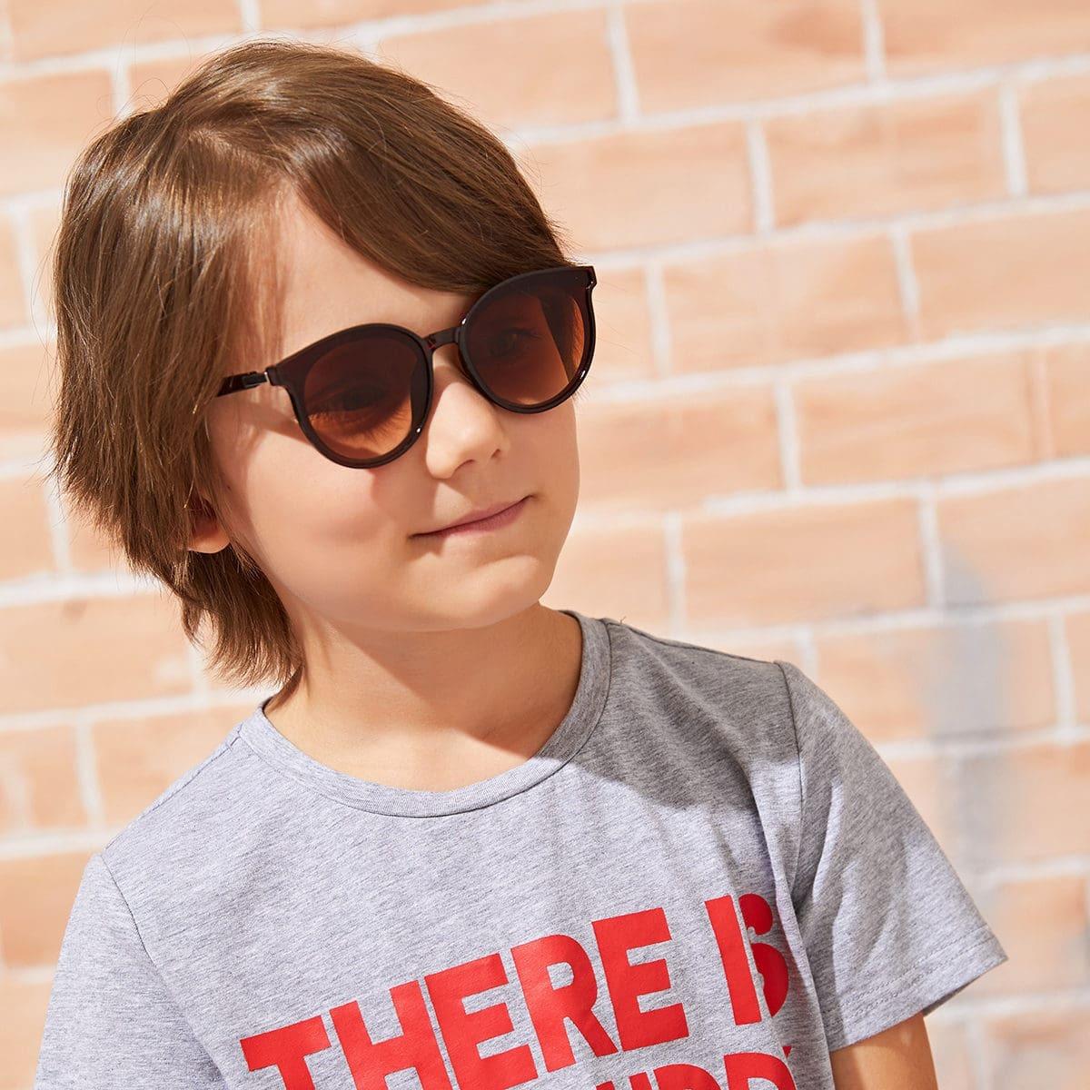 Детские солнцезащитные очки с круглой оправой