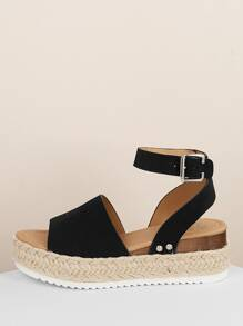 Espadrille Platform Ankle Strap Wedge Sandals