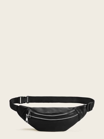 Double Zip Front Fanny Pack