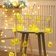 10pcs Lemon Shaped Bulb String Light 1.5M