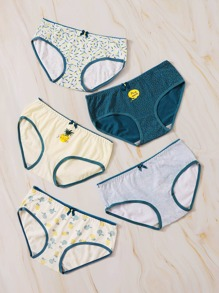 Mixed Print Panty Set 5pack