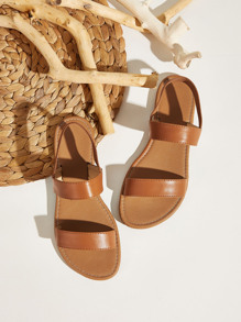 Two Part Slingback Sandals