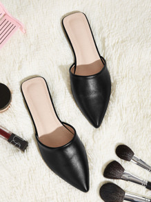 Point Toe Flat Mules