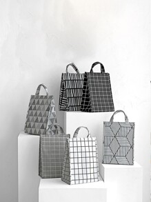 Geometric Pattern Insulation Lunch Bag 1pc
