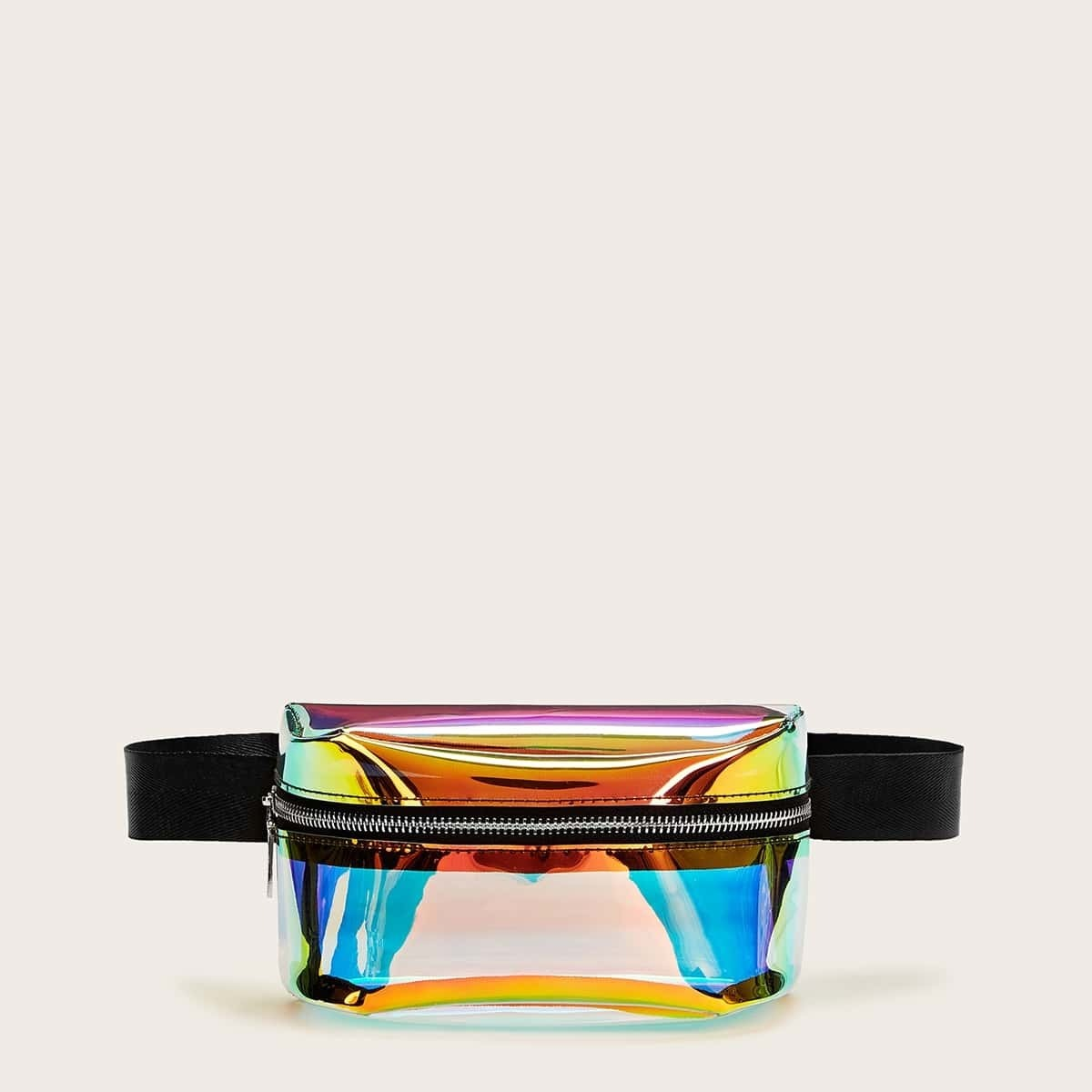 Zipper Front Iridescence Fanny Pack