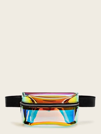Zipper Front Iridescence Fanny Pack