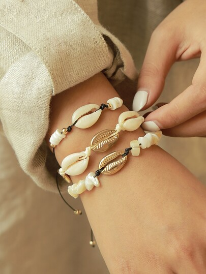 Shell Design Bracelet 3pcs