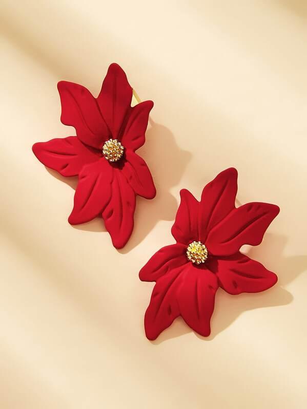 Flower Design Earrings 1pair