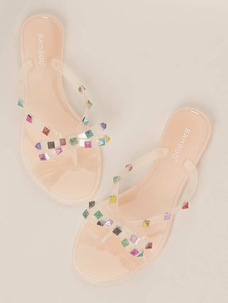 Colored Flop Stud Flip Sandals Multi Jelly 0OPnwk