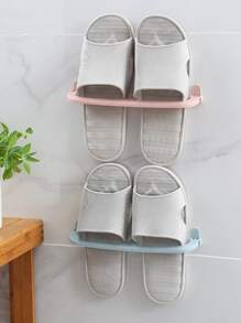 Wall Sticky Hanging Shoes Storage Rack 1pc