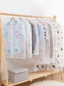 Simple Print Clothing Dust Cover 1pc