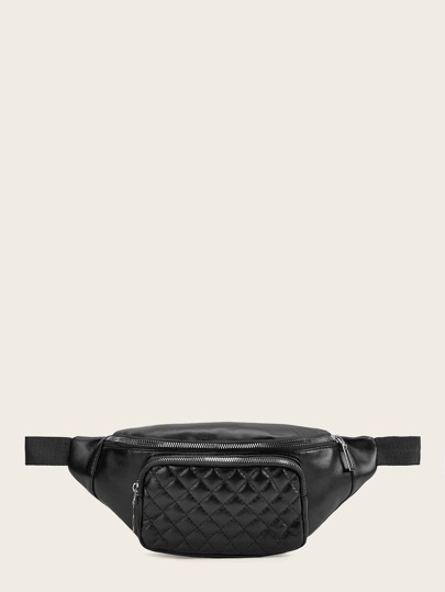 PU Quilted Fanny Pack