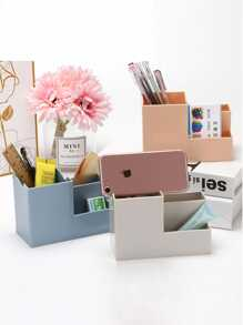 Solid Color Desktop Storage Box 1pc