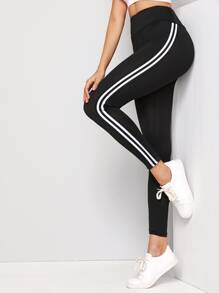 Stripe Side Ankle Leggings