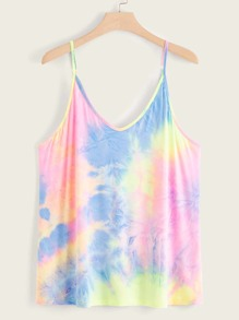 Plus Tie Dye Cami Top