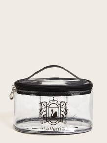 Swan Pattern Transparent Makeup Bag