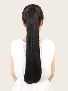 Natural Long Straight Ponytail Hair