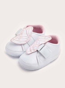 Baby Girls Butterfly Decor Flat Sneakers