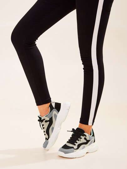 Lace-up Front Chunky Sole Trainers